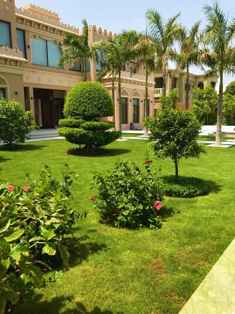 Palm Jumeira Villa front lawn