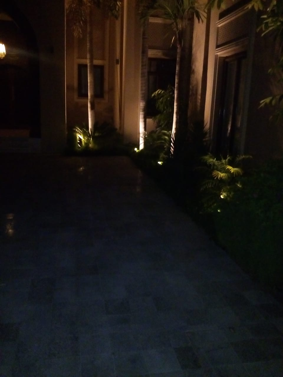 Nightscaping Villa Palm Jumerah