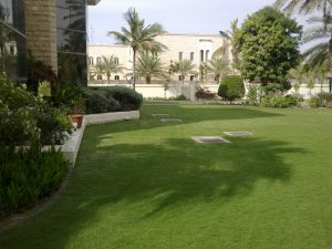 lawn private villa