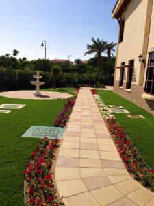 Villa-walkway-flowers