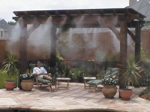 mist cooling pergola